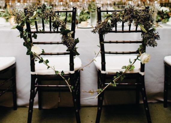 λουλουδένια καρδιά στα καθίσματά