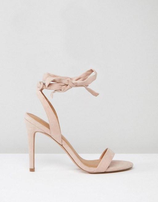 nude-ροζ πέδιλο