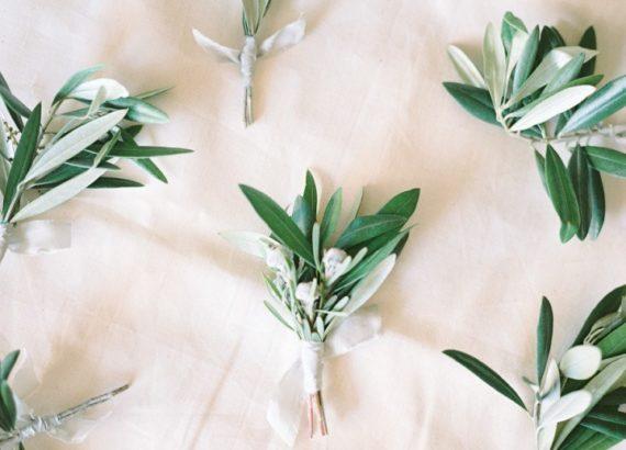 μπουτονιέρα φύλλα ελιάς
