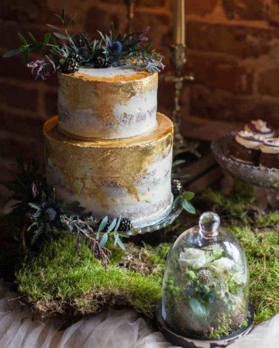 Gothic γαμήλια τούρτα