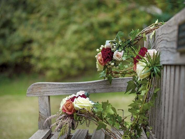 στολισμός γάμου με τριαντάφυλλα