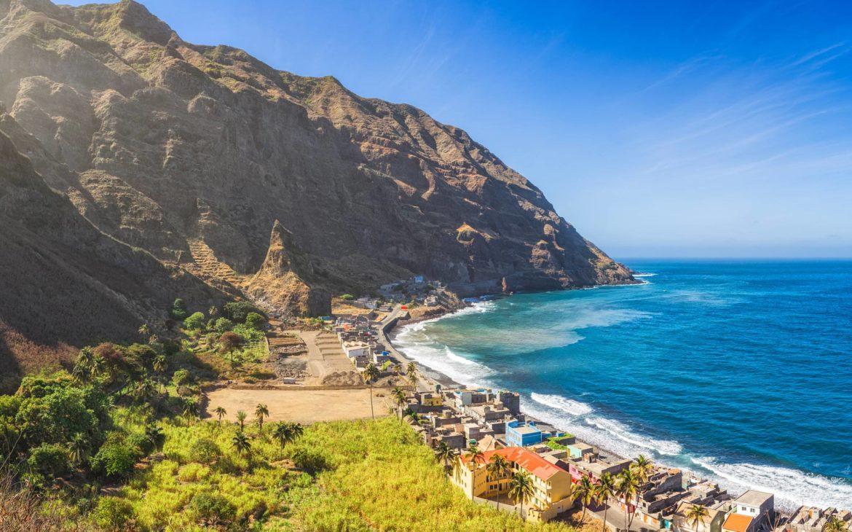η ακτή  στο Πράσινο Ακρωτήριο