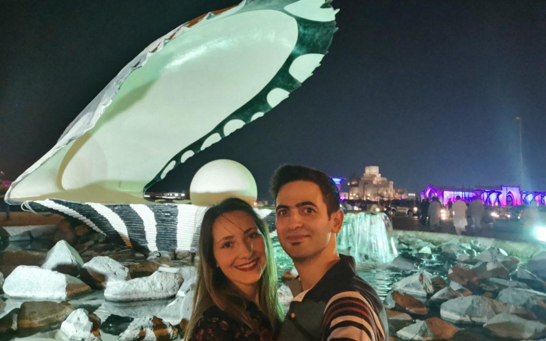 Pearl στην Ντόχα στο γαμήλιο ταξίδι