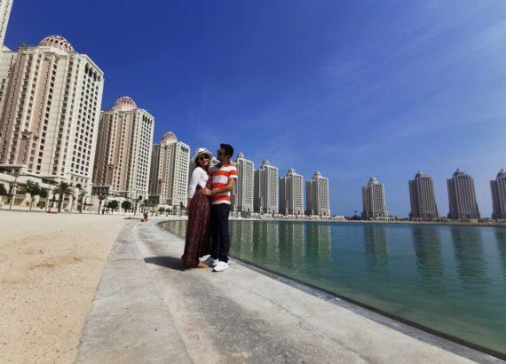 οι ουρανοξύστες στην Ντόχα γαμήλιο ταξίδι