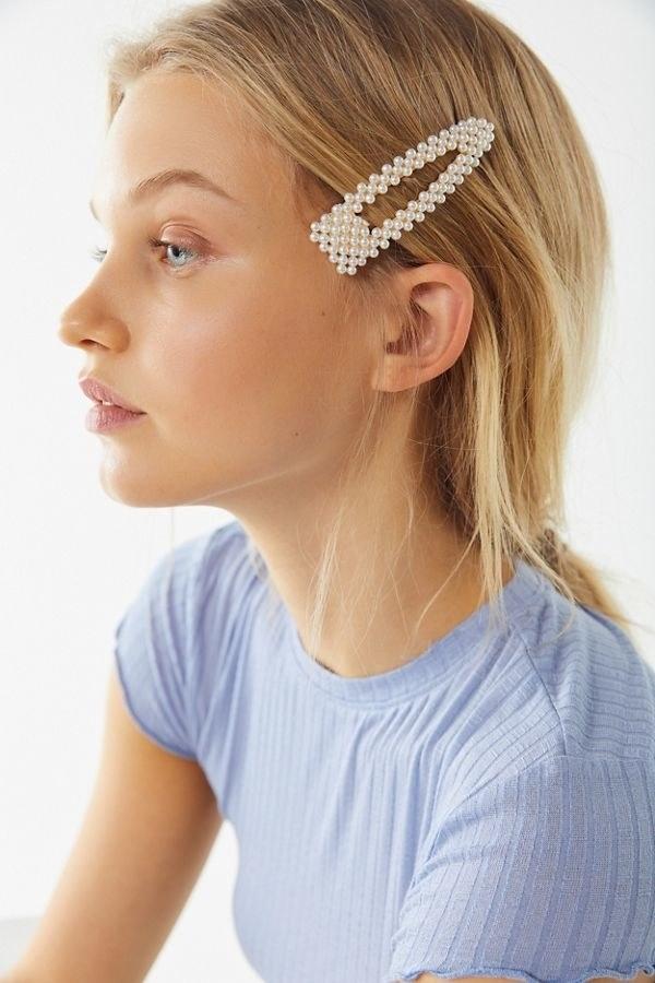 Bridal Barrettes- Διακοσμημένο με μικροσκοπικές πέρλες