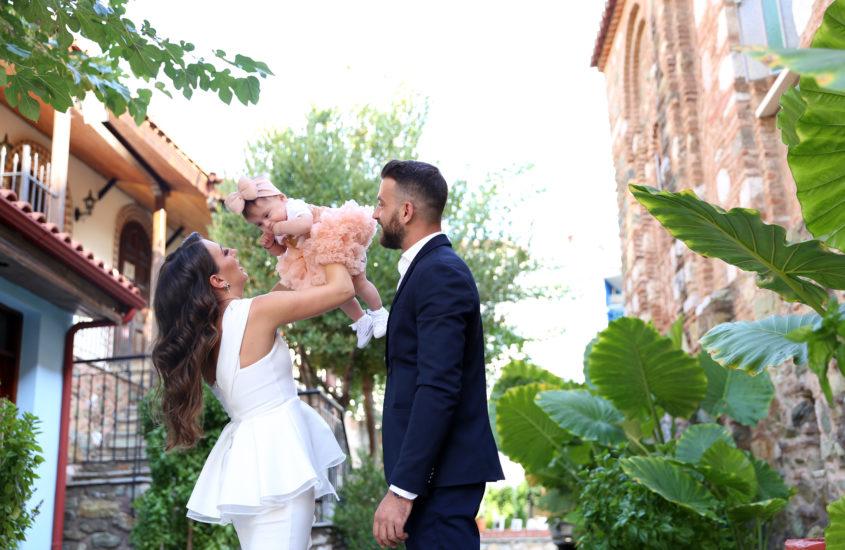 η Αριάδνη με τους γονείς της πριν την βάφτιση