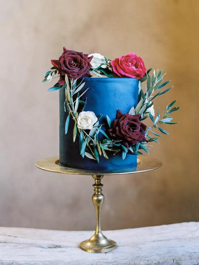 Κλασικό Μπλε γαμήλια τούρτα
